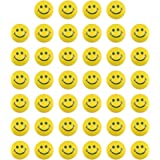 LovesTown 40 Pcs Face Squeeze Balls, 2inches Face Stress Balls Yellow Smile Squeeze Balls Mini Stress Relief Balls for…