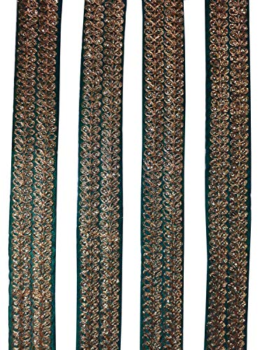 Indianbeautifulstore Fringe Trim by 2 Yard Tape Gypsy Bohemian Boho Sequins for Crafting Sewing Ethnic Trim,Lace, Fringed Ribbon