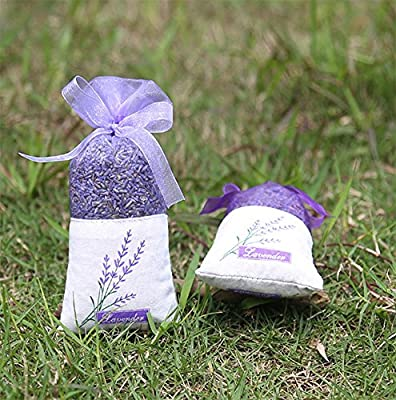 TooGet Lavender Buds Dried Flowers Deodorant Sachets, Ultra Blue Grade - Pack of 3
