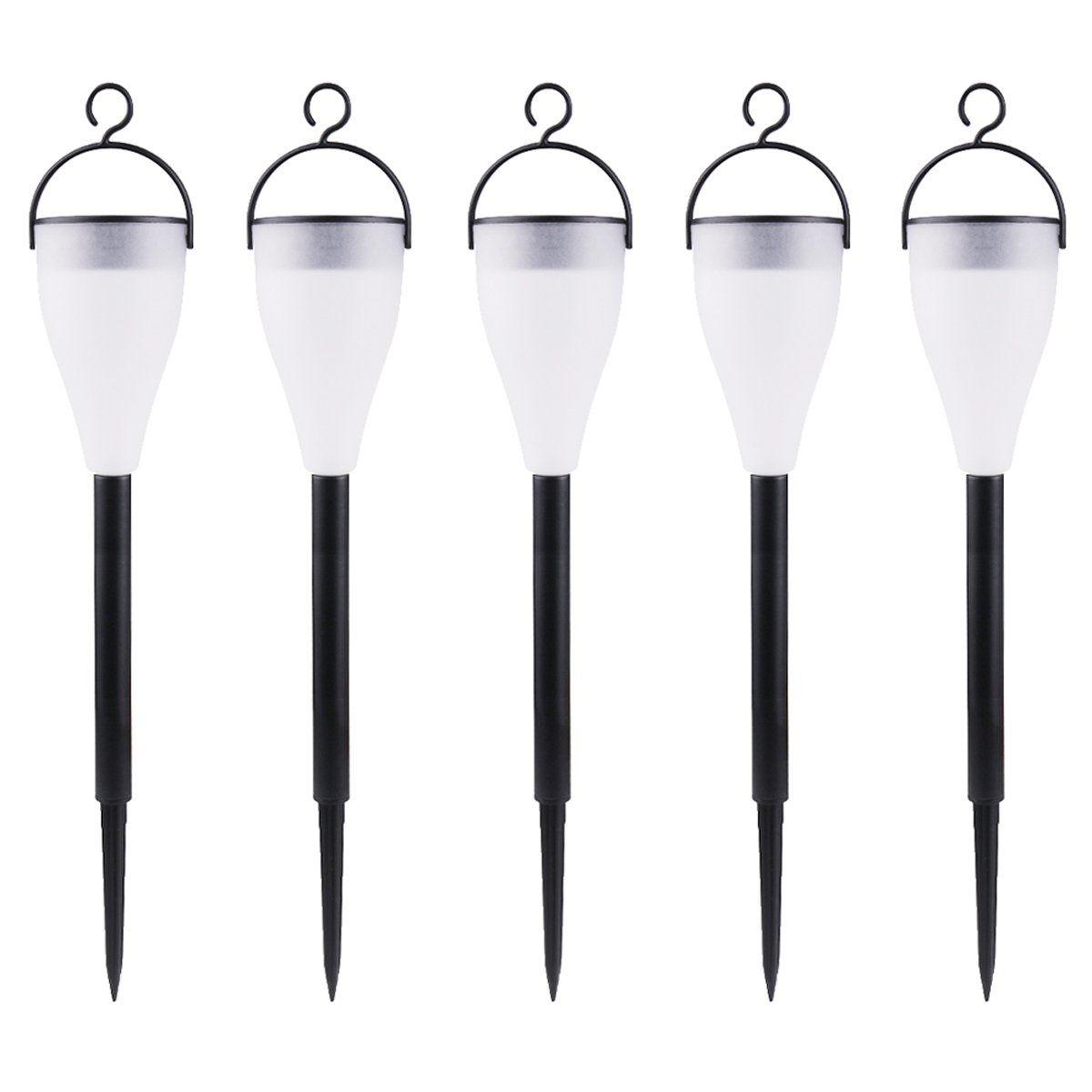 Pack of 5 Lawn with 7 Colors and 3 Lighting Modes for Yard Path and Landscape NALEDI Color Changing Solar Lights Outdoor