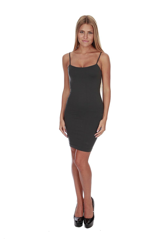 Hollywood Star Fashion Women's Stretchy Strap Mini Dress Slip