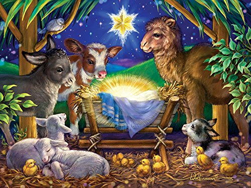 A Child is Born Christmas Puzzle 550 Piece