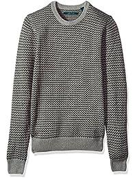 Men's Herringbone Crew Neck Sweater