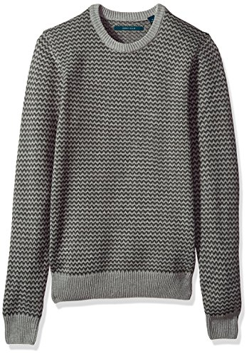 Perry Ellis Men's Herringbone Crew Neck Sweater