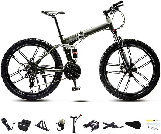 Plegable MountainBike 24-26 pulgadas MTB bicicletas, unisex plegable de cercanías bicicletas, 30 velocidad Bicicleta plegable Engranajes montaña, bicis de velocidad variable for hombres y mujeres, dob: Amazon.es: Hogar
