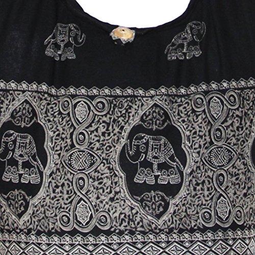 Elephant Royal Bohemian Hipster Hobo Boho Hippie Crossbody Bag (Black) by All Best Thing (Image #1)