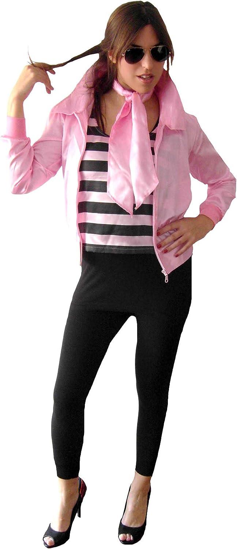 EL CARNAVAL Disfraz Pink Lady Grease Mujer Adulto -Este Disfraz ...