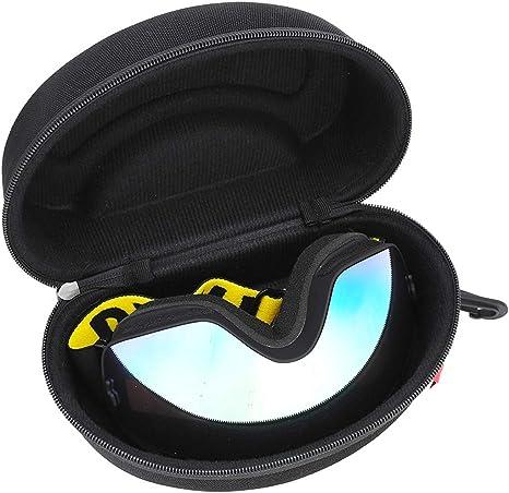 SunshineFace Estuche para Gafas de Snowboard de Esquí Estuche Protector de Caja con Cremallera Dura para Gafas: Amazon.es: Deportes y aire libre
