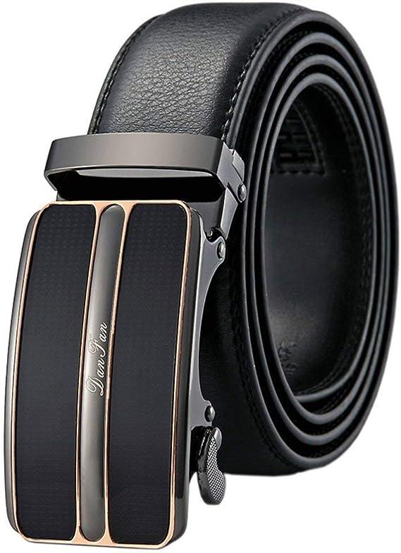 130cm TUSHI L13 Men Cow Leather Waist Belt Zinc Alloy