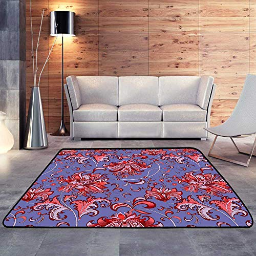 Carpet mat, with red flowersW 55