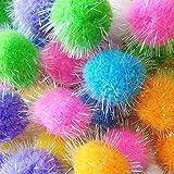 """Rimobul Assorted Color Craft Pom Poms - 1.3"""" - 40 Pack"""