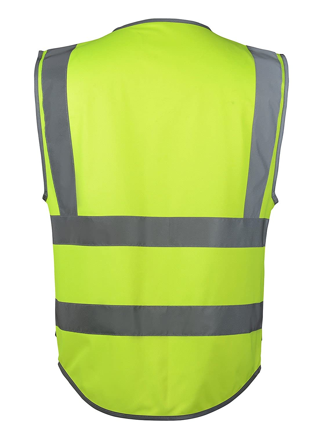 SFVest Veste Bandes R/éfl/échissantes Gilet de S/écurit/é Col V Haute Visibilit/é L/éger Multifonction Avertissement Travail Chemin Signalisation Nuit S/écurit/é 4 Poches Jaune//Orange//Noir Taille M//L//XL