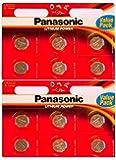 Panasonic Cr-2032 - Batterie Agli Ioni Di Litio, Confezione Da 12