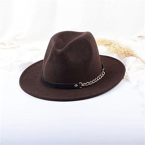 Mujeres Chicas Modernos Otoño Invierno Retro Sombreros Fedora Sombreros  Trilby Café  Amazon.es  Ropa y accesorios b77ebd2c274
