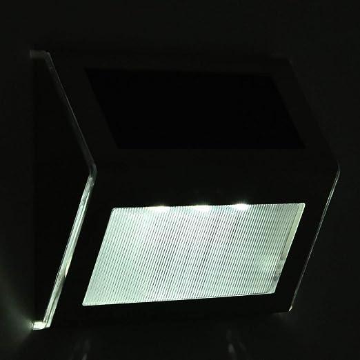 Luces solares exteriores Paquete de 2, 3 luces LED de pared Luz solar Iluminación de seguridad