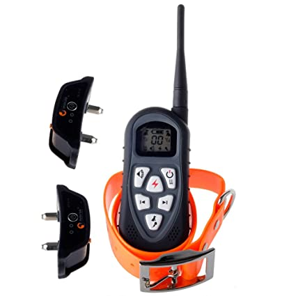 Buy Aetertek At-219 New Version LCD Display Remote Control Dog Training  Collar with Shock Vibration Beep Tone and Auto Anti-bark Function for 2  Small Dogs ... 930b9e25b17