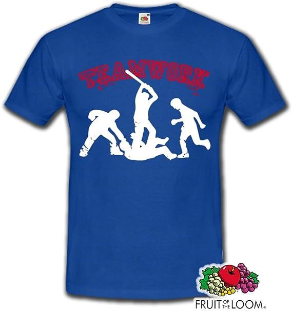 Trabajo en equipo ACAB hools ultras piel MMA Fight Club camiseta para hombre - diferentes colores, tamaños S-XXXL azul azul Talla:XL: Amazon.es: Deportes y aire libre