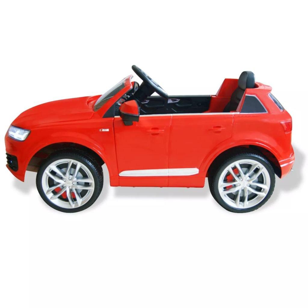 vidaXL Coche eléctrico Audi Q7 rojo 6 V