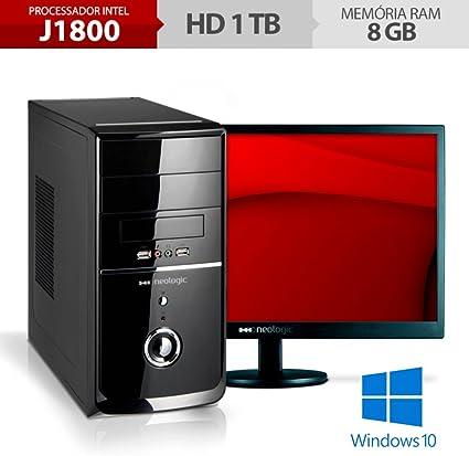 Desktop Neologic Nli53258 Celeron J1800 2.41ghz 8gb 1tb Intel Hd Graphics Windows 10 Com Monitor