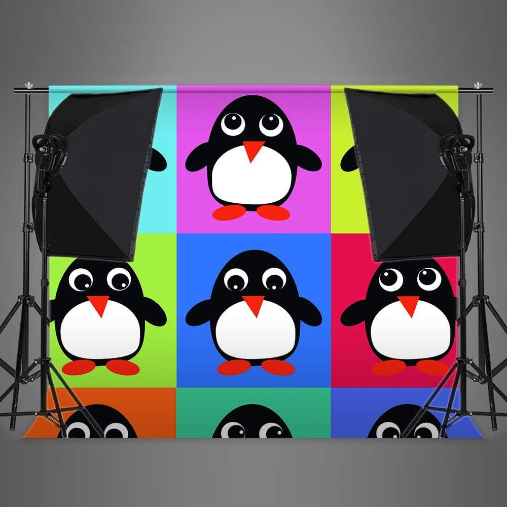 5X7Ft, Vinyle Pingouin Photographie Fond personnalis/é Dessin anim/é Photo Fond Nouveau-n/é Photo Studio Accessoires