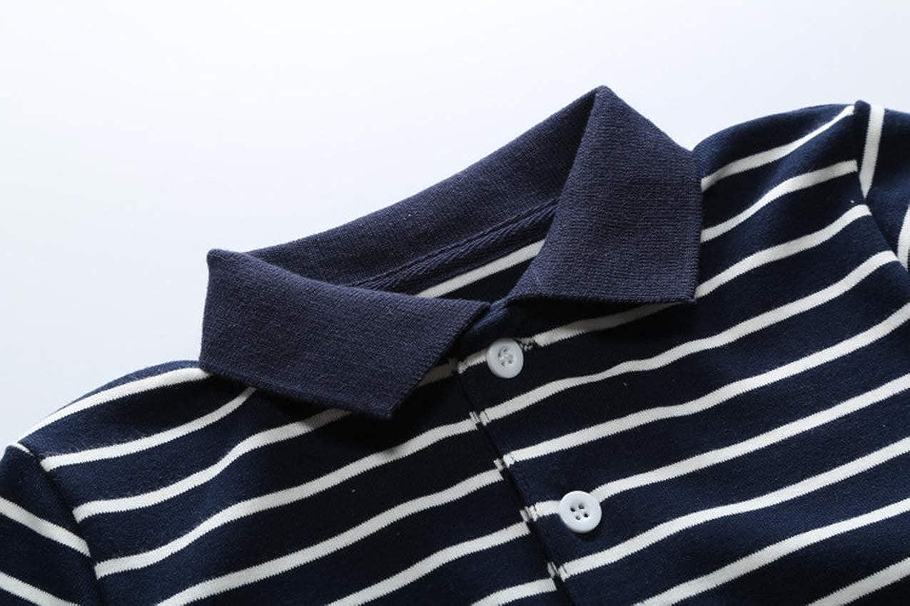 Mornyray Baby Kids Boys/' Summer Stripe Polo Shirt Casual Long Sleeve Tee