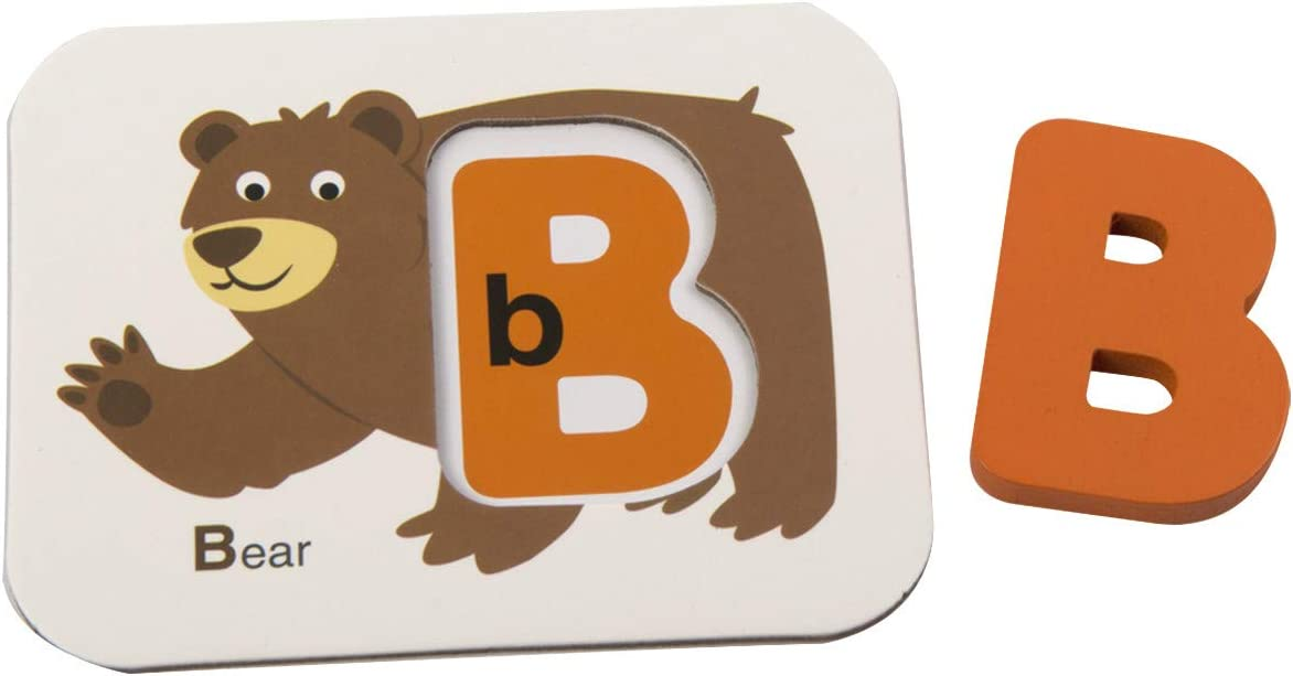 ABC Wooden Letters and Numbers Animal Card Board Matching Puzzle Game Montessori Educational Toys Gift for Toddlers Zoostliss Numbers and Alphabets Flash Cards Set
