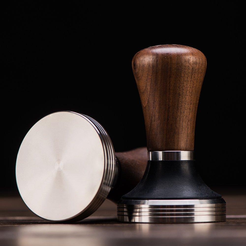 Diguo Elegance Wooden Coffee Tamper. Flat Espresso Tamper 58mm Portafilter. Stainless Steel Flat Height Adjustable Wooden Handle. Barista Espresso Tamper by Diguo (Image #5)