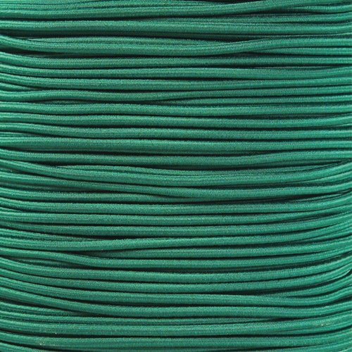 PARACORD PLANET 1/8 Inch Shock Cord - Choose from 10, 25, 50, and 100 Feet - Made in USA (Kelly Green, 25 Feet) by PARACORD PLANET