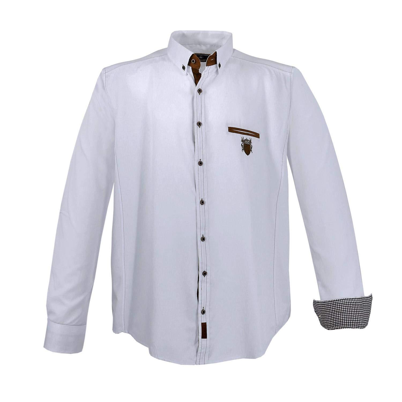 TALLA 4XL. Lavecchia Camisa de Hombre de Moda Tallas Grandes Blanco.