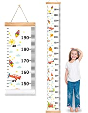 """MIBOTE Baby Growth Height Chart Handing Ruler Wall Decor for Kids, Canvas Removable Height Growth Chart 79"""" x 7.9"""""""