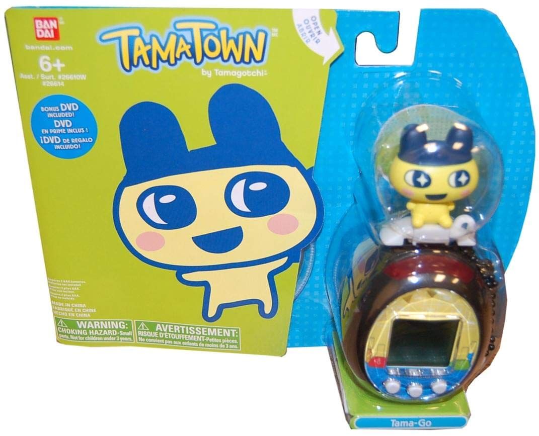 Tamagotchi Tamatown Black and Yellow Tama-go with
