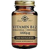 Solgar Vitamin B12 1000 µg Sublingual Chewable Nuggets - Pack of 250