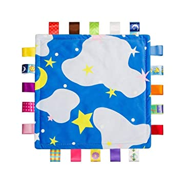 Toys & Activities Baby Taggy Blanket Snuggle Tag Security Blankets
