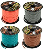 GS Powers 16 Gauge, 4 Rolls of 100 Feet (total of 400') Car Audio Video Power Primary Remote Turn on Hook up Wire (Cable Color Set: Brown, Green, Orange, Grey)
