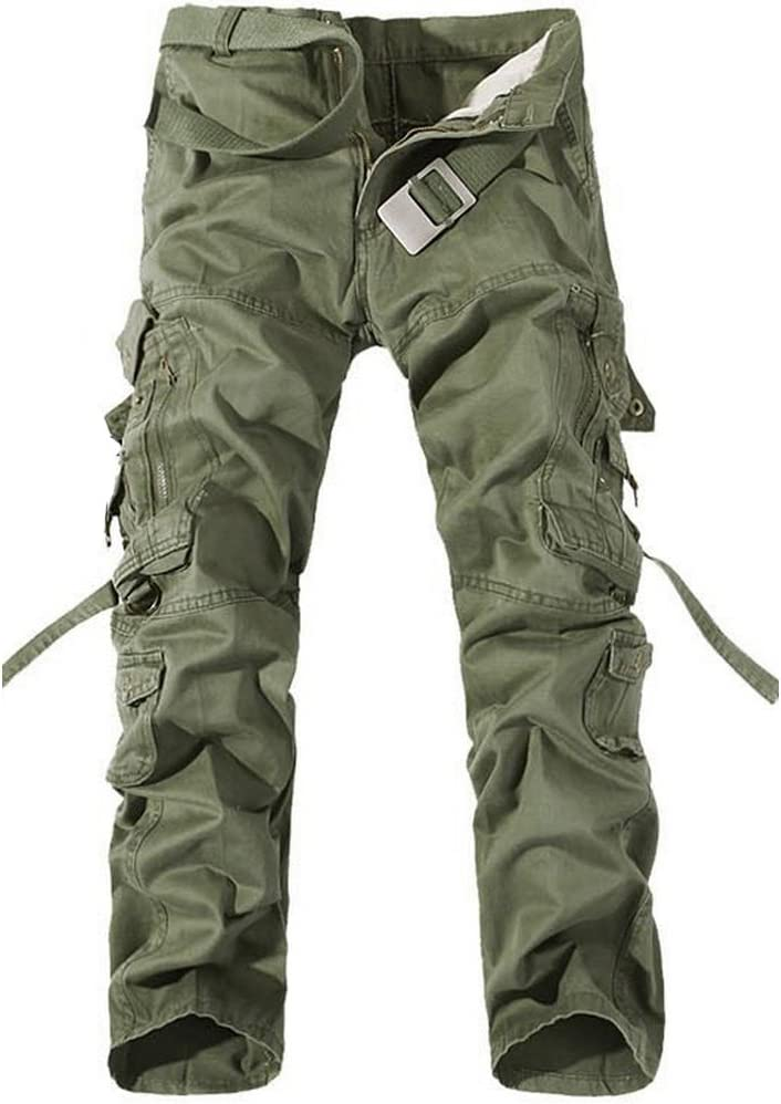 GITVIENAR Salopette Jean Multis Poches Pantalon en Vrac Oversize Homme Pantalon Grande Taille Pointe de Verrouillage /à 3 Fils pour Camping VTT Travail Activit/és de Plein Air
