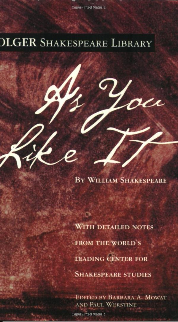 amazon com as you like it folger shakespeare library
