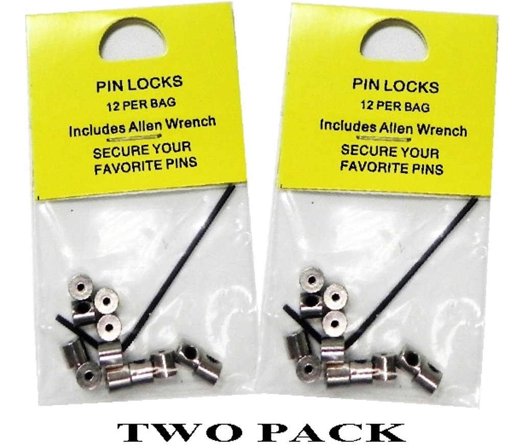 24 Locking Pin Keepers For Hat Lapel Vest Pin And Patch Man 4336938071