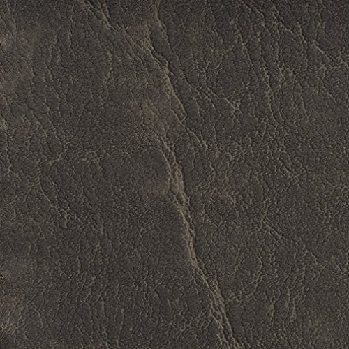 - G614 Charcoal Grey Distressed Outdoor Indoor Faux Leather Upholstery Vinyl by The Yard