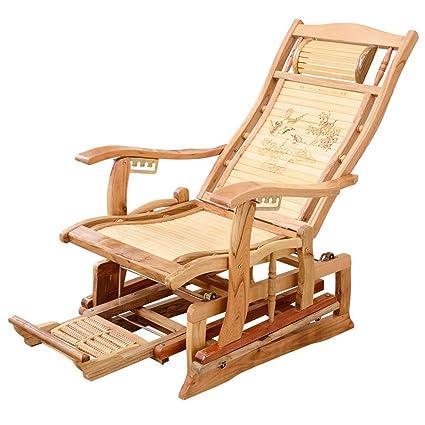 Folding chair Silla Mecedora Plegable de bambú, Silla ...
