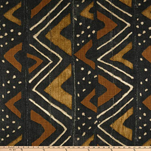 P Kaufmann Mali Mudcloth Basketweave Fabric, Safari, Fabric By The Yard