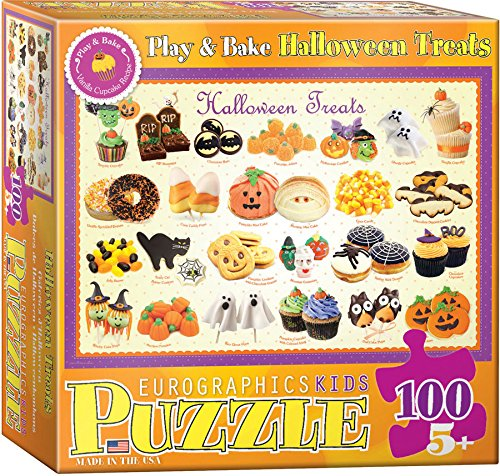 Halloween Treats Puzzle, Halloween Candy Corn, Cookies and more  100-Piece