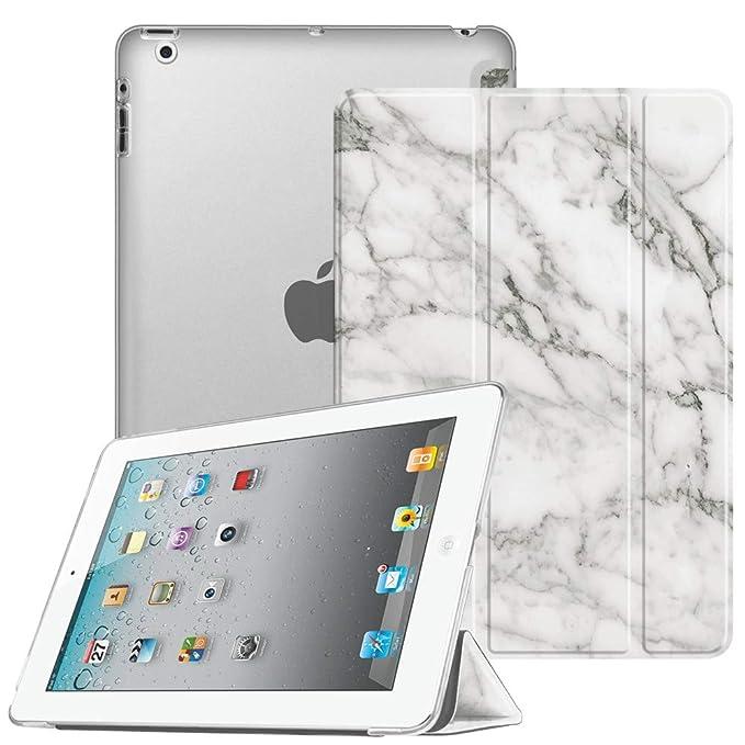 Fintie Hülle für iPad 4, iPad 3 und iPad 2 - Ultradünne Superleicht Schutzhülle mit transparenter Rückseite Abdeckung Cover m