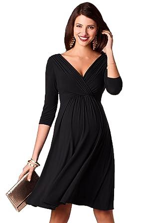 5a0d225affe Kamaitachi V-Neck Knee-Length Dress for Pregnant Women Elegant Maternity  Nursing Dresses Pregnancy