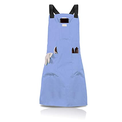 BOJECHER Garden Tool Apron Professional Heavy Duty Work Apron with 14 Pockets Carpenters Bakers and Machinists Fully Adjustable Water-resistant Gardening Utility Aprons for Men /& Women