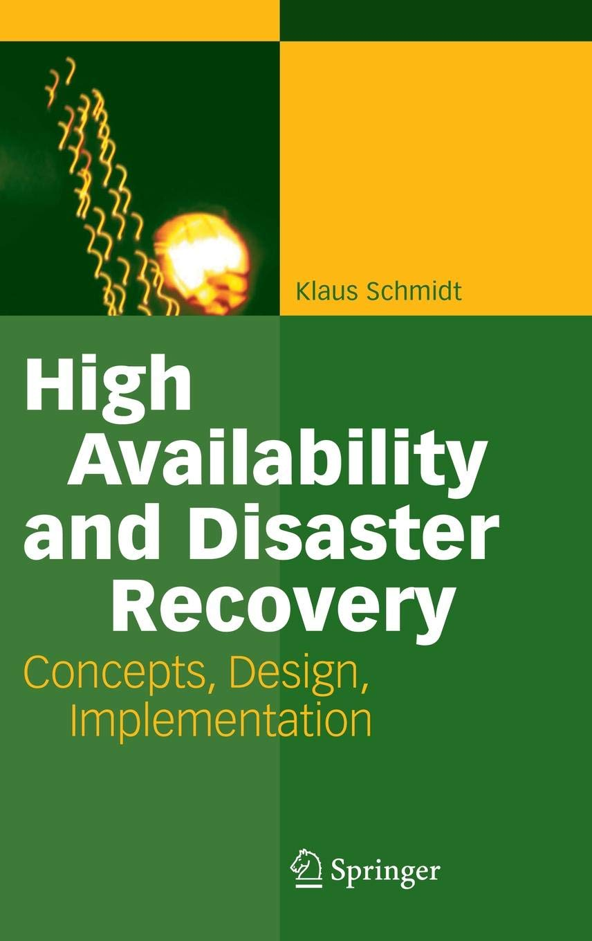 High Availability and Disaster