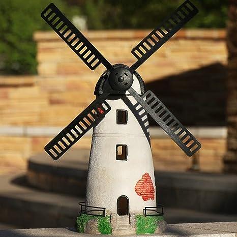 JPVGIA Estatua artesanía Ornamentos del jardín del Molino de Viento Solar Faro Craft Modelo Escultura de Resina Impermeable Estatua del jardín for césped de la Yarda Decoración de Regalos - 21 *