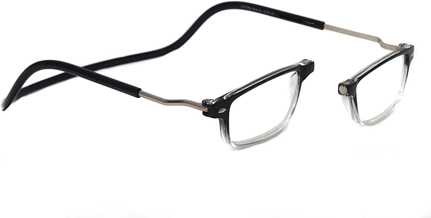 1.50 New Reading Glasses Adjustable Magnetic 5-Pack with Built in Neck Strap for Men and Women