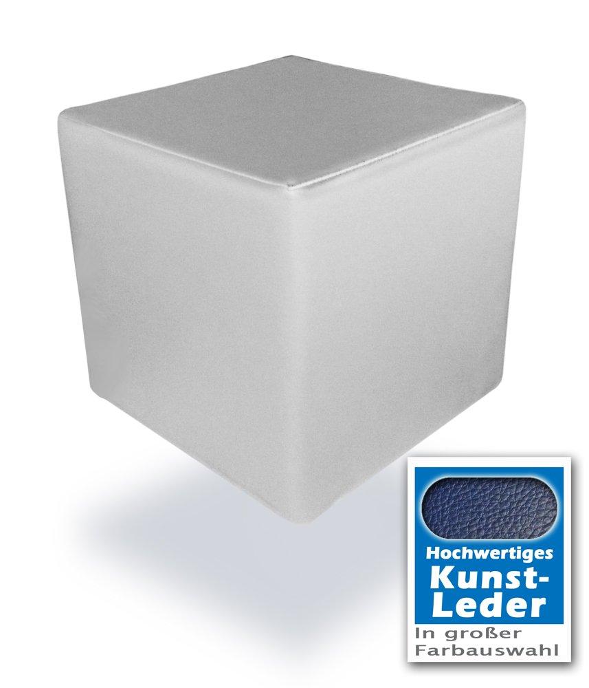 Unbekannt SchaumstoffWürfel mit hochwertigem Kunstlederbezug 40 x 40 x 40 cm. Bandscheibenwürfel, Stufenlagerungswürfel, Lagerungswürfel, Schaumstoffwürfel