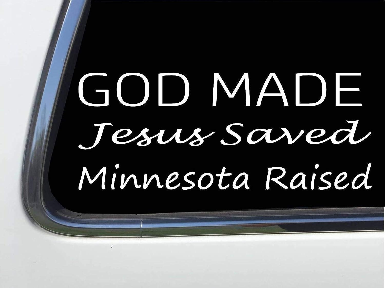 Jesus Saved God Made Minnesota Raised 8 sticker decal HM1621 ThatLilCabin