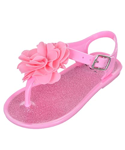b19699ac42fe Stepping Stones Baby Girls  Glittery Sole Jelly Sandals - Pink